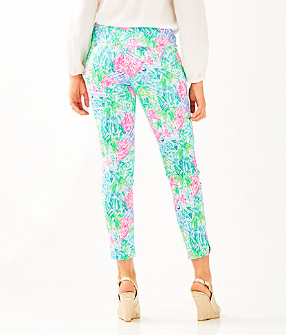 "29"" Kelly Skinny Ankle Pant With Petal Hem, Multi Bohemian Queen Small, large 1"