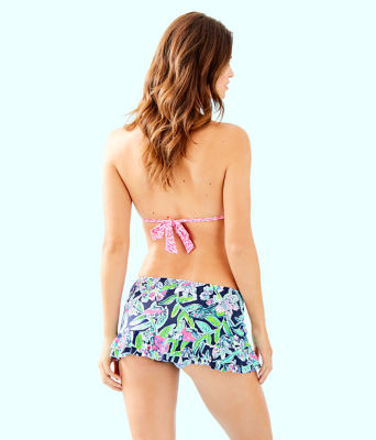 Monaco Hipster Ruffle Bikini Bottom, Deep Sea Navy Sway This Way Swim, large 1