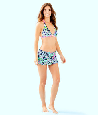 Monaco Hipster Ruffle Bikini Bottom, Deep Sea Navy Sway This Way Swim, large