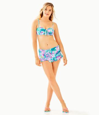 Monaco Hipster Ruffle Bikini Bottom, Multi Postcards From Positano, large 2