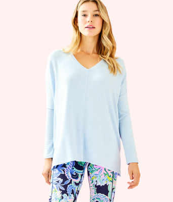 Luxletic Clifford Top, Heathered Crew Blue, large 0