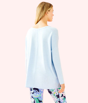 Luxletic Clifford Top, Heathered Crew Blue, large 1