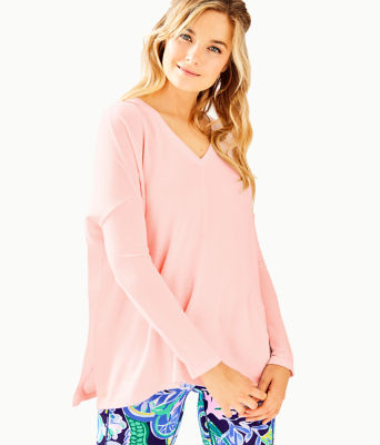 Luxletic Clifford Top, Paradise Pink Tint Heather, large 0