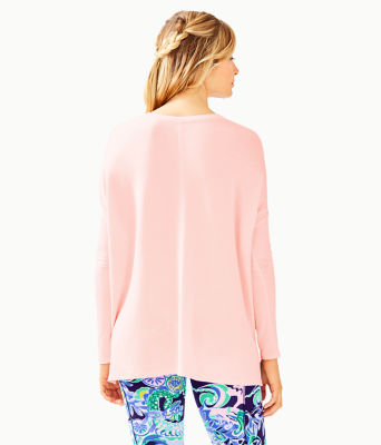 Luxletic Clifford Top, Paradise Pink Tint Heather, large 1
