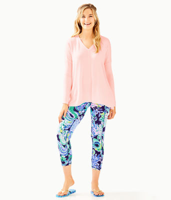 Luxletic Clifford Top, Paradise Pink Tint Heather, large 2