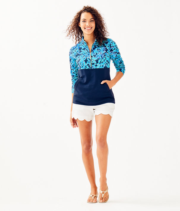 UPF 50+ Asher Popover, Bright Navy In Too Deep, large