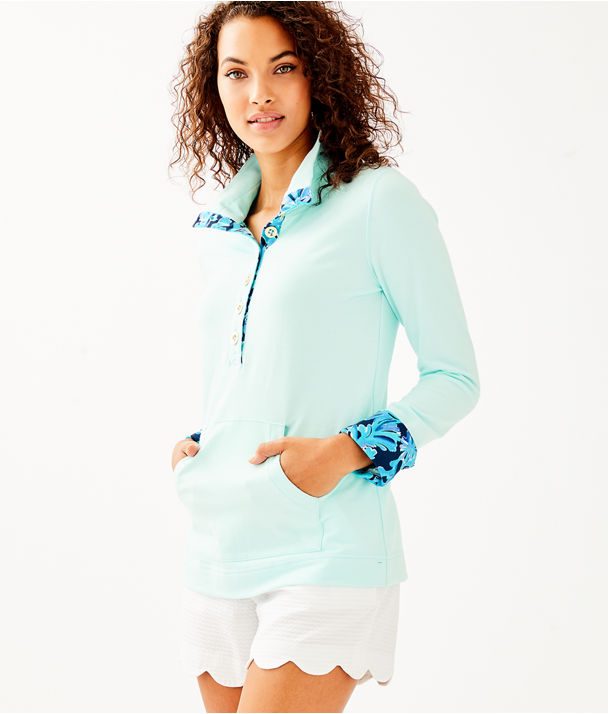 UPF 50+ Landley Popover, Whisper Blue, large