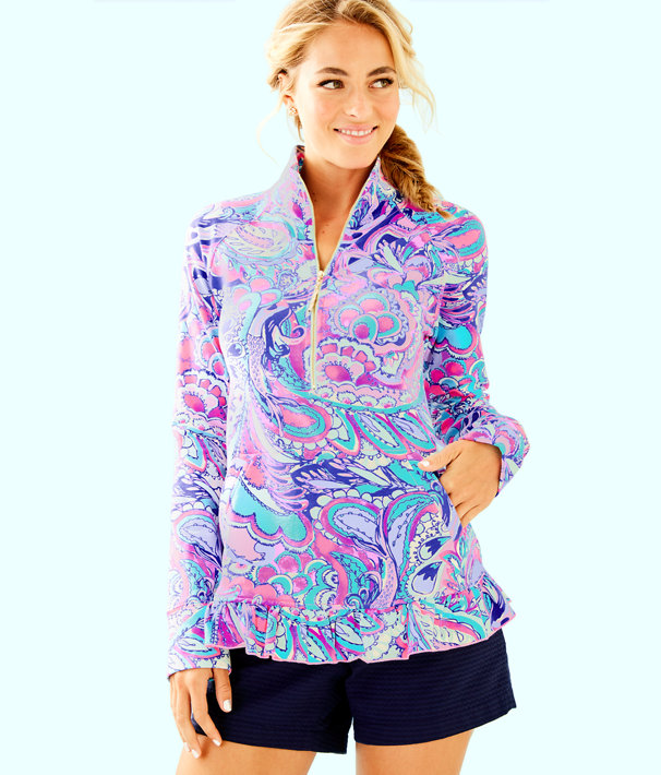 UPF 50+ Killian Popover, Pink Tropics Mermaids Call, large