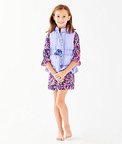 Girls Caylee Vest, Sea Urchin Purple, large