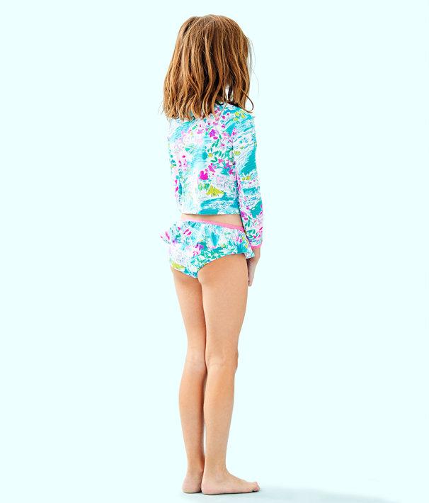 UPF 50+ Girls Cora Rashguard Swim Set, Multi Postcards From Positano, large