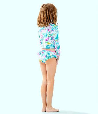 UPF 50+ Girls Cora Rashguard Swim Set, Multi Postcards From Positano, large 1
