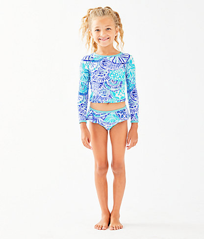 UPF 50+ Girls Cora Rashguard Swim Set, , large