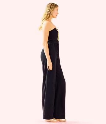 Janelle Embellished Jumpsuit, Onyx, large 2