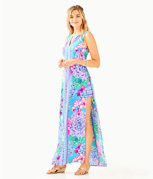 Donna Maxi Romper, Multi Special Delivery Engineered Romper, large