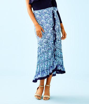 Alaina Wrap Skirt, , large