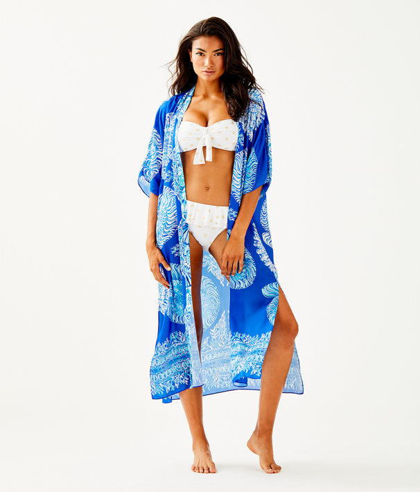 Brynlee Cover Up, Blue Grotto Nauti Nautilus Engineered Cover Up Front, large