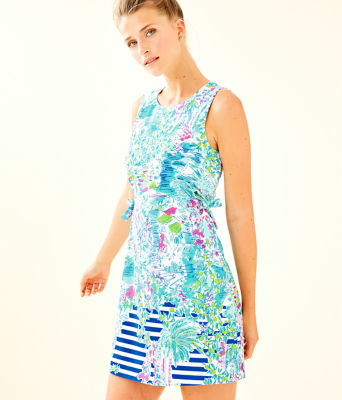 Marli Stretch Shift Dress, Multi Postcards From Positano Engineered Woven, large 0