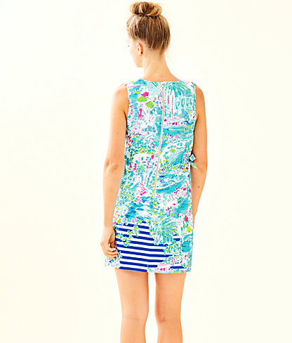 Marli Stretch Shift Dress, Multi Postcards From Positano Engineered Woven, large 1