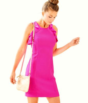 Britnee Stretch Shift Dress, , large