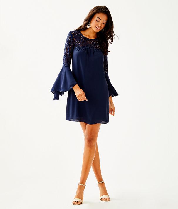 Amenna Dress, True Navy, large