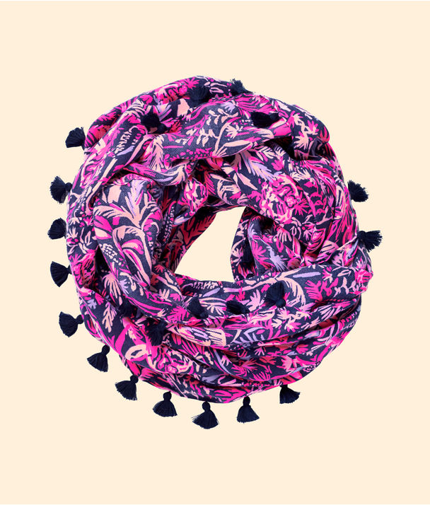 Resort Infinity Loop Scarf, Bright Navy Swing Of Things, large
