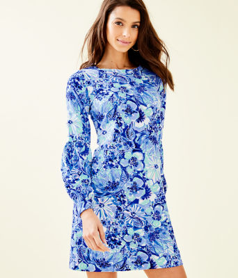 Bartlett Sweatshirt Dress, Coastal Blue Catch N Keep Small, large