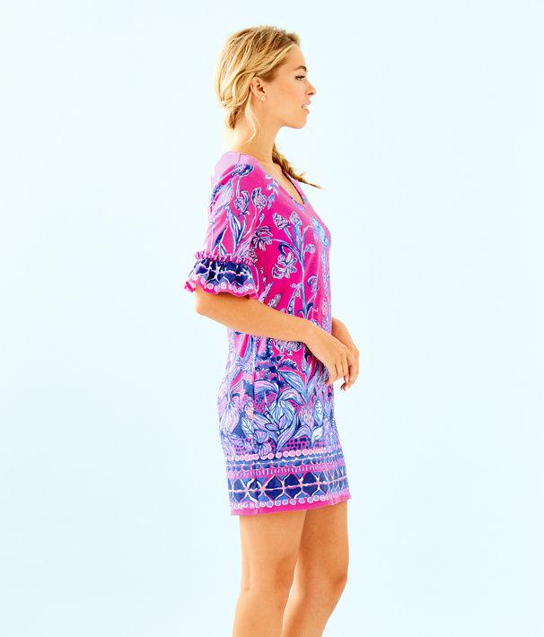 Jayden Dress, Bougainvillea Pink Un Beet Able Engineered Dress, large