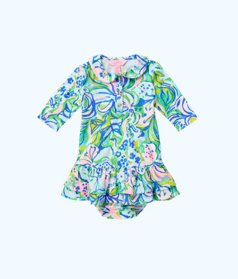 Amelia Infant Polo Dress, Multi Feline Good, large 0