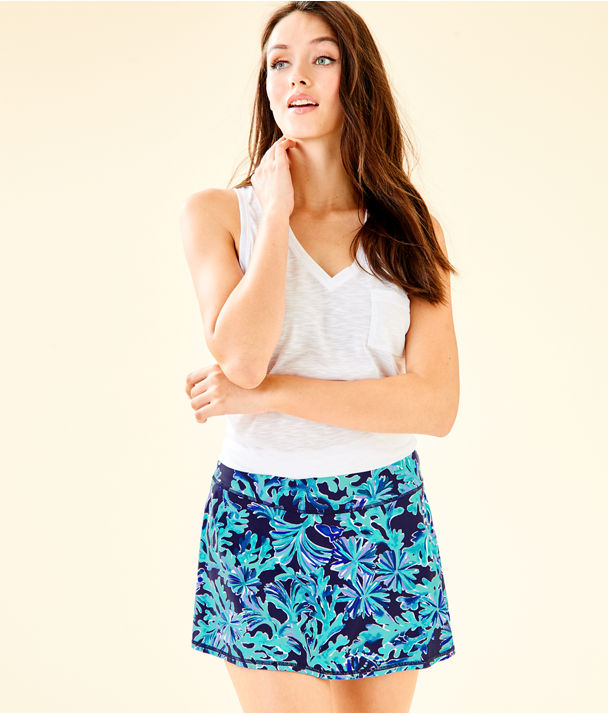 UPF 50+ Luxletic Meryl Nylon Danya Skort, Bright Navy In Too Deep, large