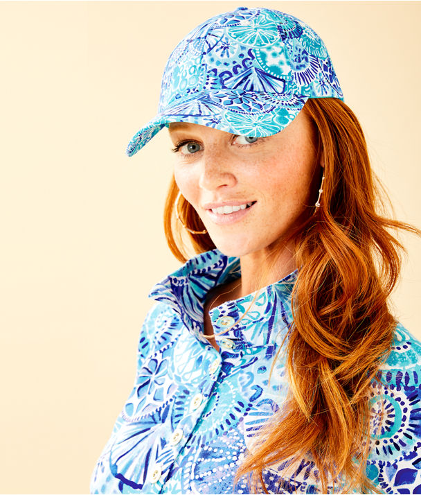 Run Around Hat, Turquoise Oasis Half Shell Accessories Small, large