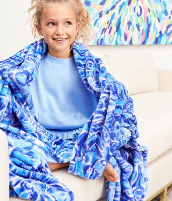 Paradise Blanket, Coastal Blue Whispurr, large