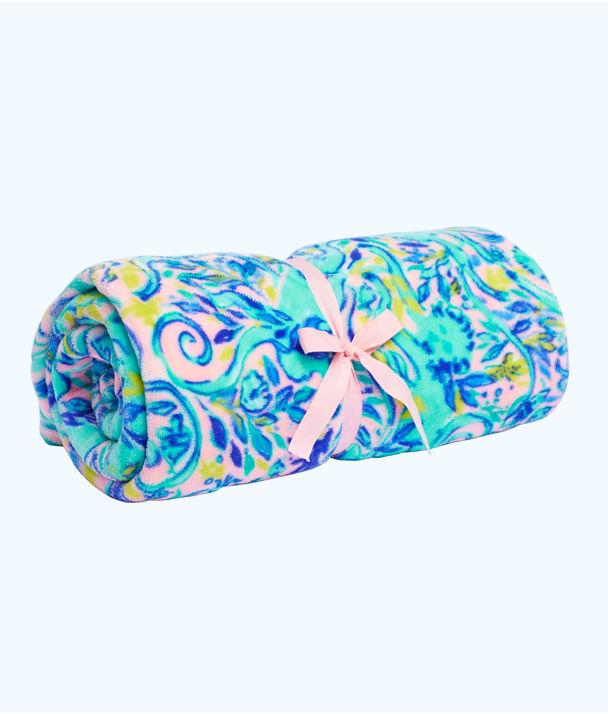 Paradise Blanket, Melon Fig Tint Monkey Sea Large, large