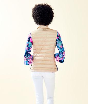 Iliana Puffer Vest, Gold Metallic, large