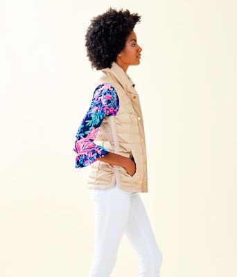 Iliana Puffer Vest, Gold Metallic, large 2
