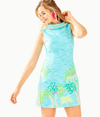 Portia Shift Dress, Amalfi Blue Resort Boucle, large 0