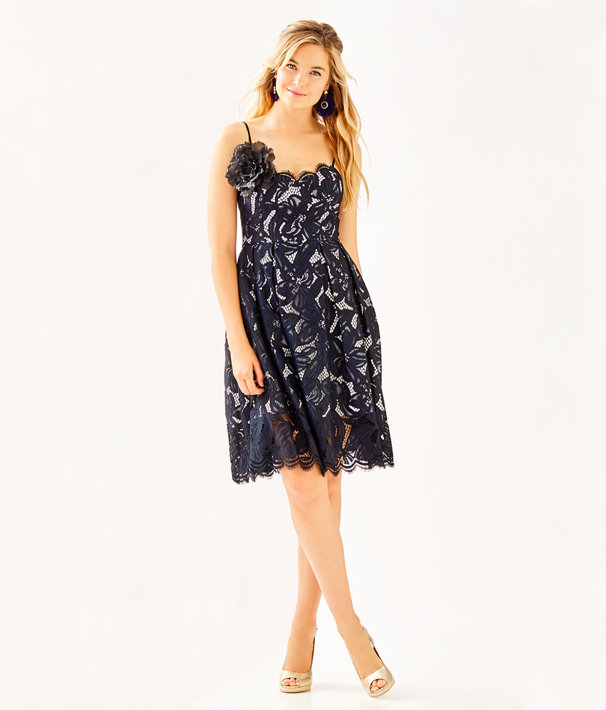 Camella Dress, Onyx Two Tone Orchid Lace, large