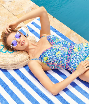 Palma One-Piece Swimsuit, Resort White Zest For Life Swim, large