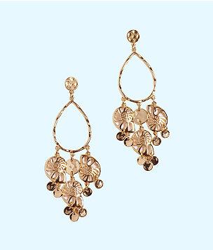 Feeling Nautilus Chandelier Earrings, Gold Metallic, large