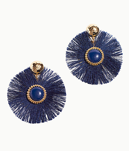 Fan-Tastic Earrings, True Navy, large