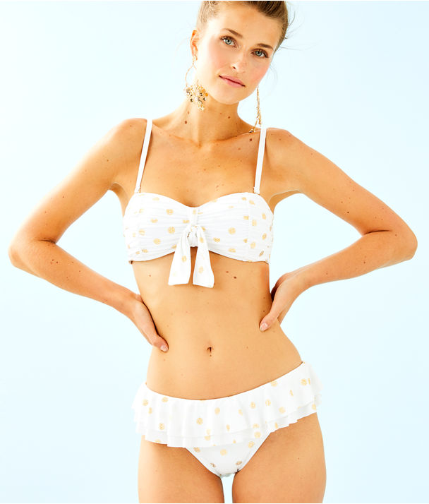 Cassia Ruffle Bikini Bottom, Resort White Squeeze the Juice, large
