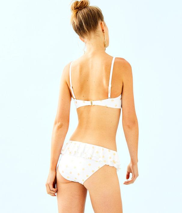 Cassia Ruffle Bikini Bottom, Resort White Squeeze the Juice, large