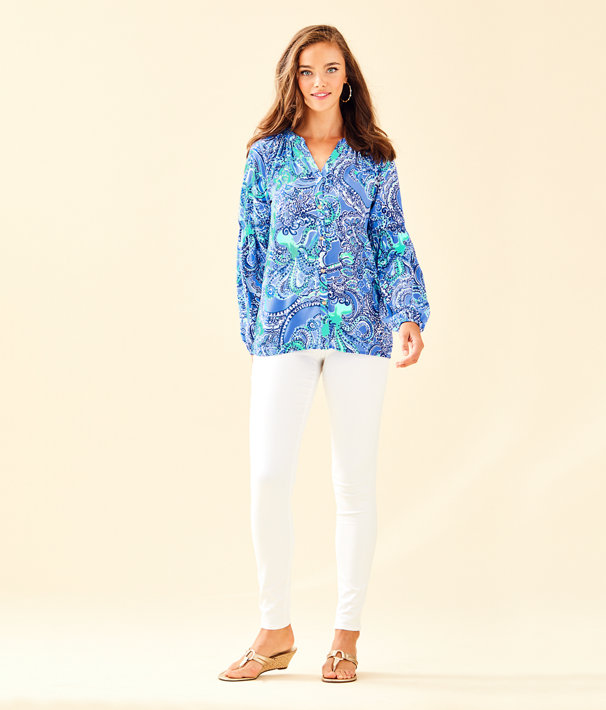 Anela Top, Coastal Blue Legga Sea, large