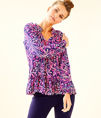Savanna Top, Bright Navy Swing Of Things, large