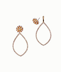 Dance Til Sunrise 2-In-1 Earrings, Gold Metallic, large