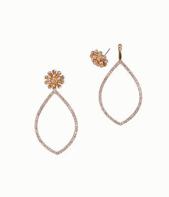 Dance Til Sunrise 2-In-1 Earrings, Gold Metallic, large