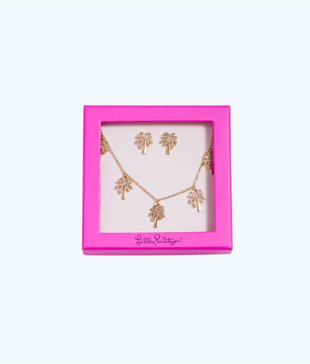 Sparkling Palm Trees Gift Set, Gold Metallic, large