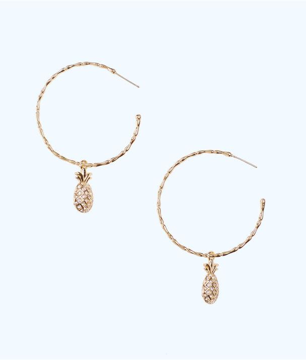 Charm Hoop 3-In-1 Earrings Gift Set, Gold Metallic, large