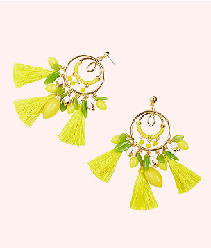 Lemon Grove Earrings, Pineapple Juice, large