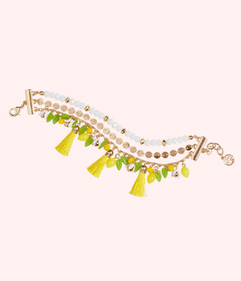 Lemon Grove Clasp Bracelet, Pineapple Juice, large
