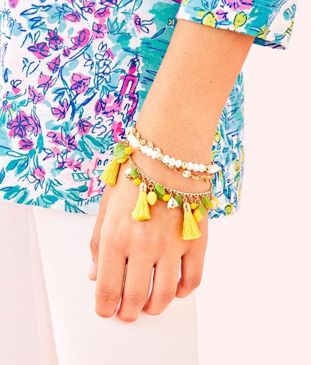 Lemon Grove Clasp Bracelet, Pineapple Juice, large